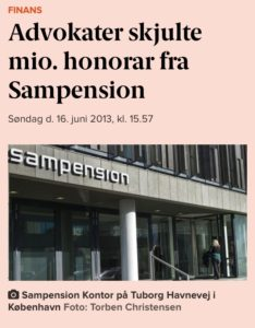 Lund Elmer Sandager skjulte million honorar fra Sampension ATP