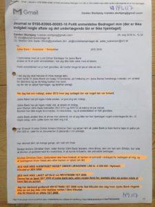 Brev til Anders Dam se nederst, herefter lyver jyske bank og forbyder dialog