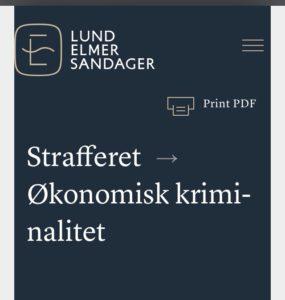 Advokaterne i Lund Elmer Sandager skal ikke sige de ikke kender straffe loven, når les.dk vælger at bruge falske låne oplysninger over for retten, for at skuffe i et retsforhold